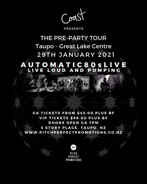 Coast Presents The Pre-Party Tour Taupo