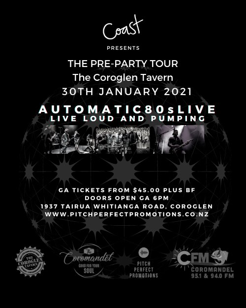 Coast Presents The Pre-Party Tour The Coroglen Tavern