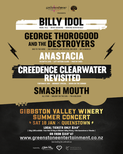 Gibbston Valley Winery Summer Concert 2020